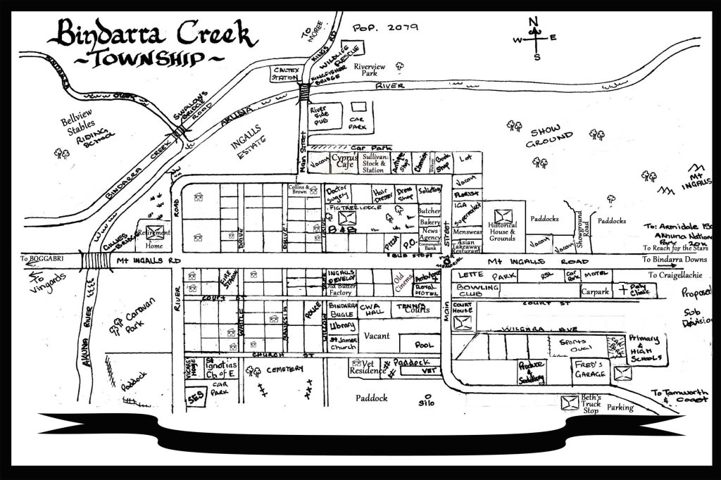 NEW Bindarra Creek Map for Books 1 7 15